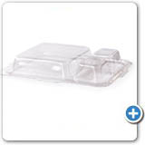 CL04-PET 4 oz Clear PET Lid Case Qty:1800